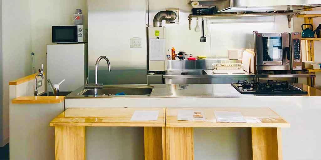 レンタルスペースのキッチン
